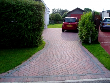 New driveway with brick paviours
